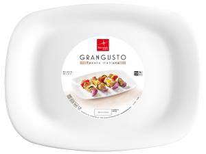 Bormioli Rocco Grangusto Set 6 Piatti Barbeque, Opale, 33x24