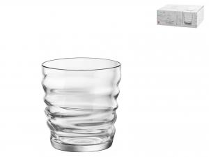 Confezione 6 Bicchieri In Vetro Riflessi Acqua Cl30