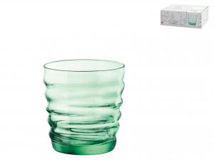 Confezione 6 Bicchieri In Vetro Riflessi Green Cl30