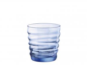 Confezione 6 Bicchieri In Vetro Riflessi S/blue Cl30