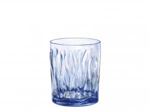 Confezione 6 Bicchieri In Vetro Wind Saph/blue Cl30