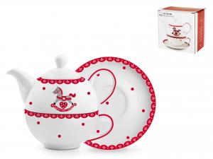 H&h Cavallino Tea-for-one, Porcellana