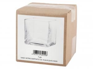 Vaso In Vetro Soffiato Cm10,2x10,2x10h
