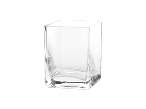 Vaso In Vetro Soffiato Cm 8x8x10,5h