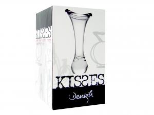 Vaso In Vetro Kisses Cm 34