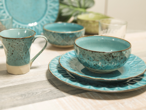 Mug In Stoneware Dalia Azzurro Cc330
