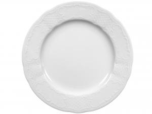 Piatto In Porcellana Salzburg Bianco Tondo 30  Ci