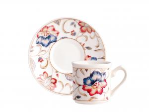 Confezione 6 Tazze Caffe' Earthenware Jacobean Con Piatto