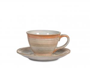 Confezione 4 Tazze Te' In Stoneware Java Con Piatto Assortit