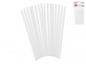Confezione 50pz Sticks Polipropilene Cakepop Bianco