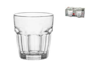 Bormioli Rocco Rockbar Set 4 Bicchieri In Vetro, Cl27