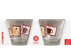 Confezione 2 Te' Senza Piatto In Vetro St/coffee M37550