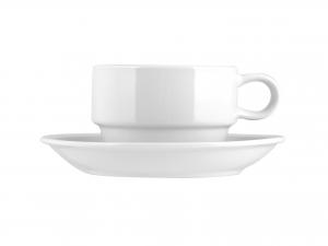 6 Tazze Caffe' Porcellana Ariston Con Piatto Cc80