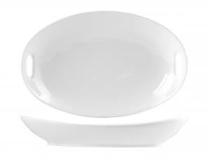 Pirofila Porcellana Bianco Ovale C/man30 A8901