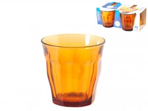 Confezione 4 Bicchieri In Vetro Picardie Vermeil 31