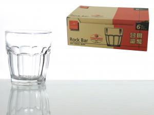 Confezione 6 Bicchieri In Vetro Rockbar Dof Cl39