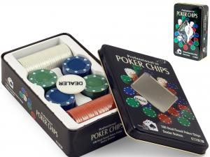 Confezione Latta Chips Poker