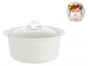 Casseruola Con Coperchio Ceramica Supreme Bianco L2,5