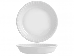 Tortiera Ceramica Supreme Bianco Cm25
