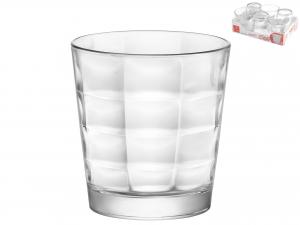 Vassoio 6 Bicchieri In Vetro Cube Acqua Cl24