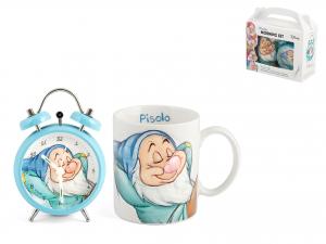 Confezione Sveglia Mug Porcellana Nani Pisolo