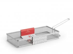 H&h Cestino Per Fritto Inox 18/8 Borghese 27x13x4 Cm Pentole