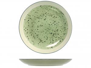 6 Piatti In Stoneware Mimosa Verde Piano 26,5