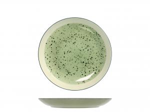 6 Piatti In Stoneware Mimosa Verde Frutta 20,5