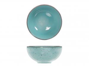 6 Coppette In Stoneware Mimosa Azzurro Cm11,5