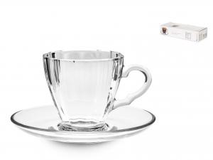 6 Tazze Caffe' Con Piatto Diamond Cl07 95755