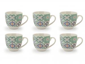 Confezione 6 Caffe'pcl Decoro Assortiti Senza Piatto Cc90 Pc