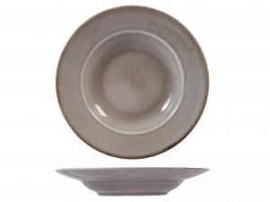 6 Piatti Pasta In Stoneware Reactive Grigio 24