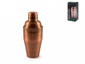 H&h Shaker Cocktail In Acciaio Inox 18/10, Colore Rame, 500m