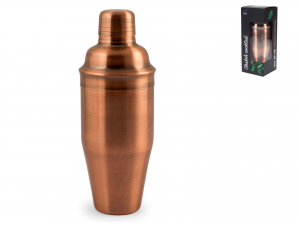 H&h Shaker Cocktail In Acciaio Inox 18/10, Colore Rame, 700m