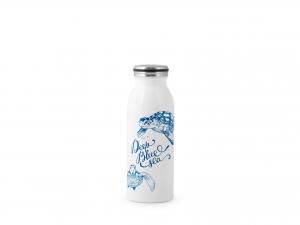 H&h Bottiglia Termica Inox 18/10, Decoro Mare, Lt 0,45