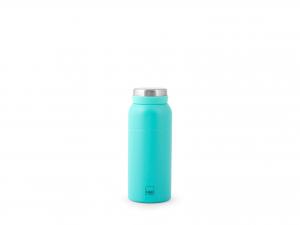 H&h Bottiglia Termica Inox 18/10, Azzurra, Lt 0,35