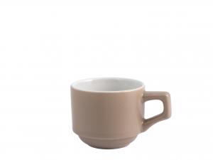 6 Tazze Caffe' In Stoneware Senza Piatto Tortora  80 9001/6