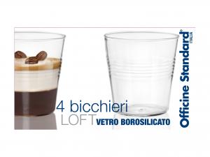 Confezione 4 Bicchieri In Borosilicato Conica Loft Cl10