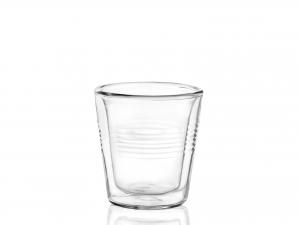 Confezione 4 Bicchieri In Borosilicato Doppio Duplex Cl5