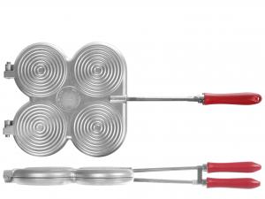 Stampo Per Tigelle In Alluminio 4 Posti Con Ganci