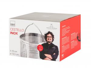 H&h Cestello Inox Alessandro Borghese Tondo 14,5xh10