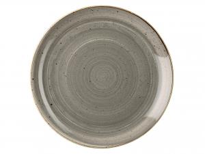 Churchill Stonecast Piatto Piano, Porcellana, Pepper Grey, C