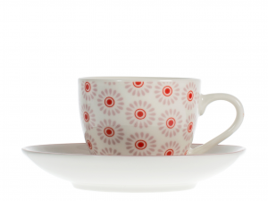 6 Tazze Moka/caffe' Nbc Fiori 85 C/p