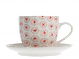 6 Tazze Caffe'/te' Nbc Fiori 185 C/p