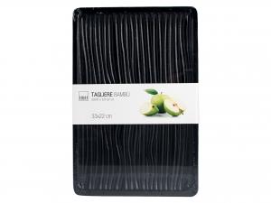 H&h Tagliere In Legno Bambu' Nero, 33x22x1,8cm