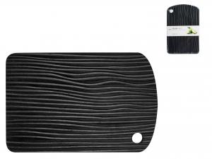 H&h Tagliere In Legno Bambu' Nero, 34x22x1,9cm