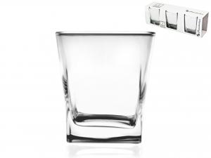 Confezione 3 Bicchieri In Vetro Carre' Acqua 31 41290l