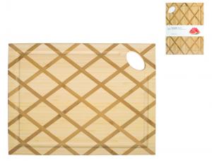 H&h Tagliere In Legno Bambu' Rettangolare, 32x24x1,5cm