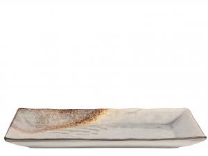 Piatto In Stoneware Crackle