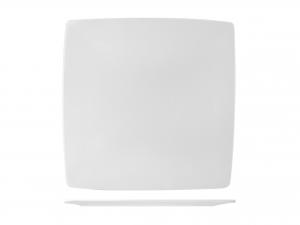 Piatto Quadrato In Porcellana, 27x27 Cm, Bianco